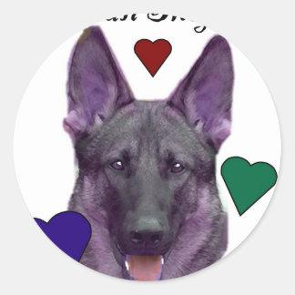 Purple German Shepard Stickers