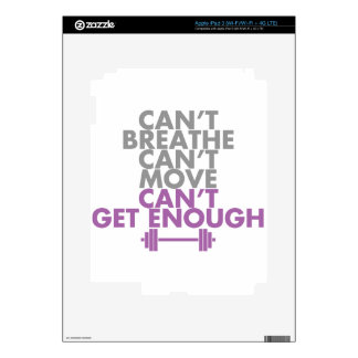 """Purple """"Get Enough"""" Decal For iPad 3"""