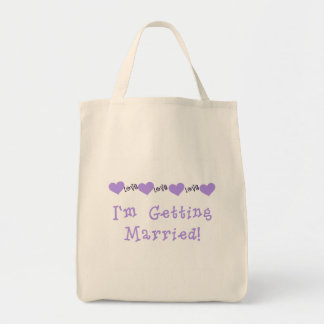 Purple Getting Married Tshirts and Gifts Tote Bag