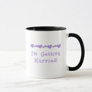 Purple Getting Married Tshirts and Gifts Mug