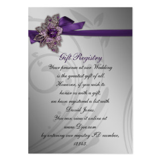 purple Gift registry  Cards Large Business Cards (Pack Of 100)