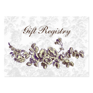 purple Gift registry  Cards Large Business Card