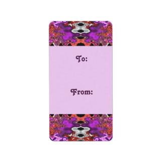purple Gift tags Address Label
