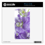 Purple Gillyflower iPhone 4g Skin Decals For The iPhone 4