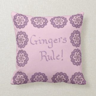 "Purple ""Gingers Rule"" American MoJo Pillows"