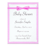 "Purple Gingham Baby Shower Invitations 6.5"" X 8.75"" Invitation Card"