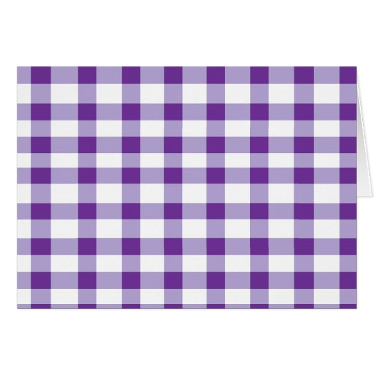Purple Gingham Card