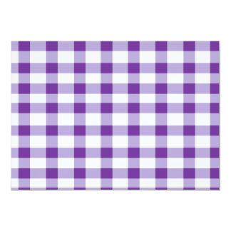 "Purple Gingham 5"" X 7"" Invitation Card"
