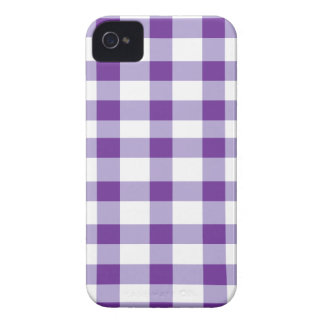 Purple Gingham iPhone 4 Case-Mate Case