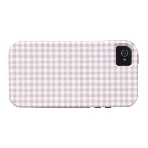 Purple gingham iphone 4 Cases