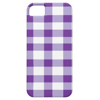 Purple Gingham iPhone SE/5/5s Case