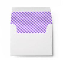 Purple Gingham Pattern Envelope
