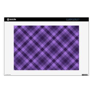 Purple gingham pattern laptop skin