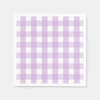 Purple Gingham Pattern Napkin