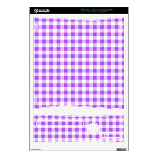 Purple Gingham Pattern Skins For The Xbox 360 S