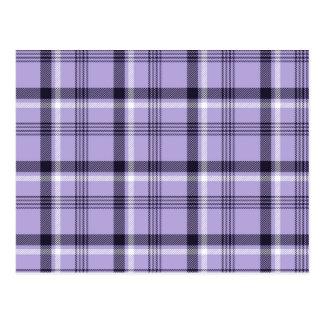 Purple Gingham Plaid Postcard