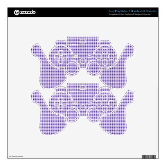 Purple Gingham Plaid PS3 Controller Decals