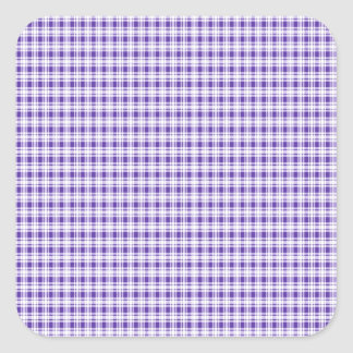 Purple Gingham Plaid Square Sticker