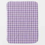 Purple Gingham Plaid V2 Swaddle Blanket