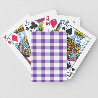 Purple Gingham Card Decks