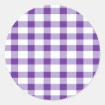Purple Gingham Sticker