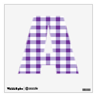 Purple Gingham Wall Sticker