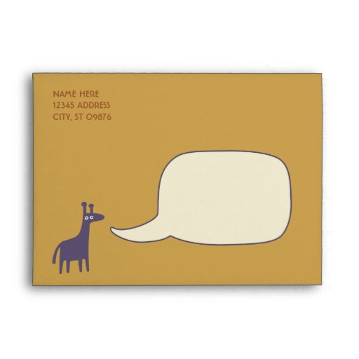purple giraffe baby shower invitations envelopes zazzle