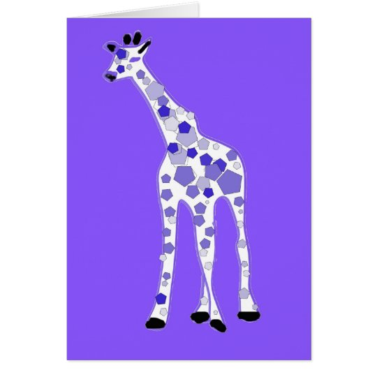 PURPLE Giraffe Card