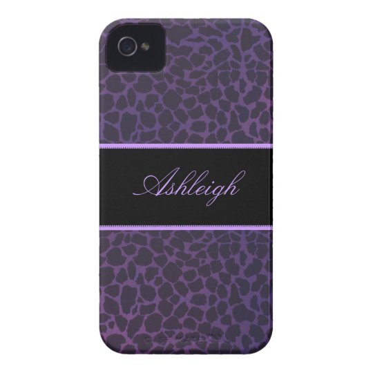 Purple Giraffe Casemate ID iPhone 4s Cases
