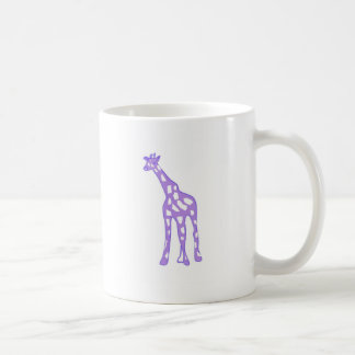 PURPLE GIRAFFE COFFEE MUG