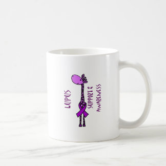 Purple Giraffe for Lupus Support Coffee Mug