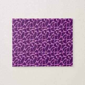 Purple Giraffe Fur Pattern Jigsaw Puzzle