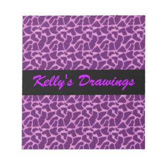 Purple Giraffe Fur Pattern Note Pad