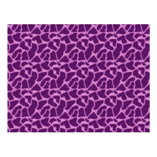 Purple Giraffe Fur Pattern Postcard