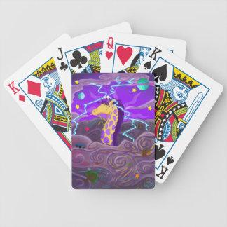 Purple Giraffe Hurricane Bicycle Playing Cards