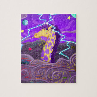 Purple Giraffe Hurricane Jigsaw Puzzle