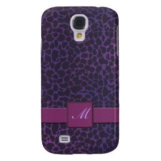 Purple Giraffe Monogram Speck iPhone 3 Cases