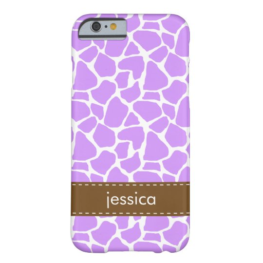Purple Giraffe Pattern Barely There iPhone 6 Case