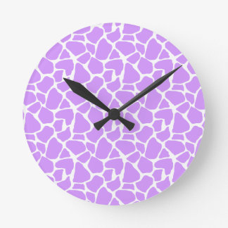 Purple Giraffe Pattern Clocks