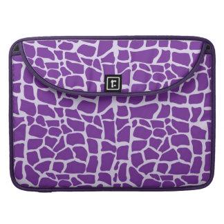 Purple giraffe pattern mosaic sleeves for MacBook pro