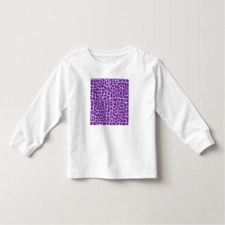 Purple giraffe pattern mosaic toddler t-shirt
