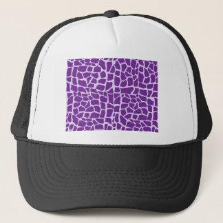 Purple giraffe pattern mosaic trucker hat