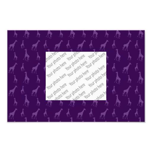 Purple giraffe pattern photo