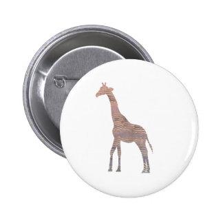 Purple Giraffe Pinback Button