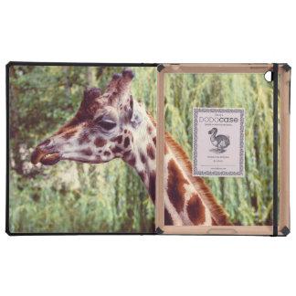 Purple Giraffe Portrait, Animal Photography Covers For iPad