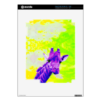 Purple Giraffe Retro Skins For iPad 2