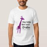 Purple Giraffes Tee Shirt