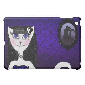 Purple Girl Cat iPad Case