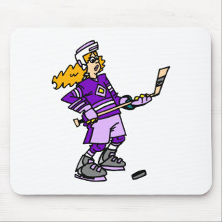 Purple girl player mouse pad