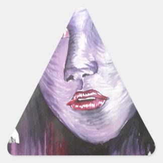 Purple Girl Triangle Sticker